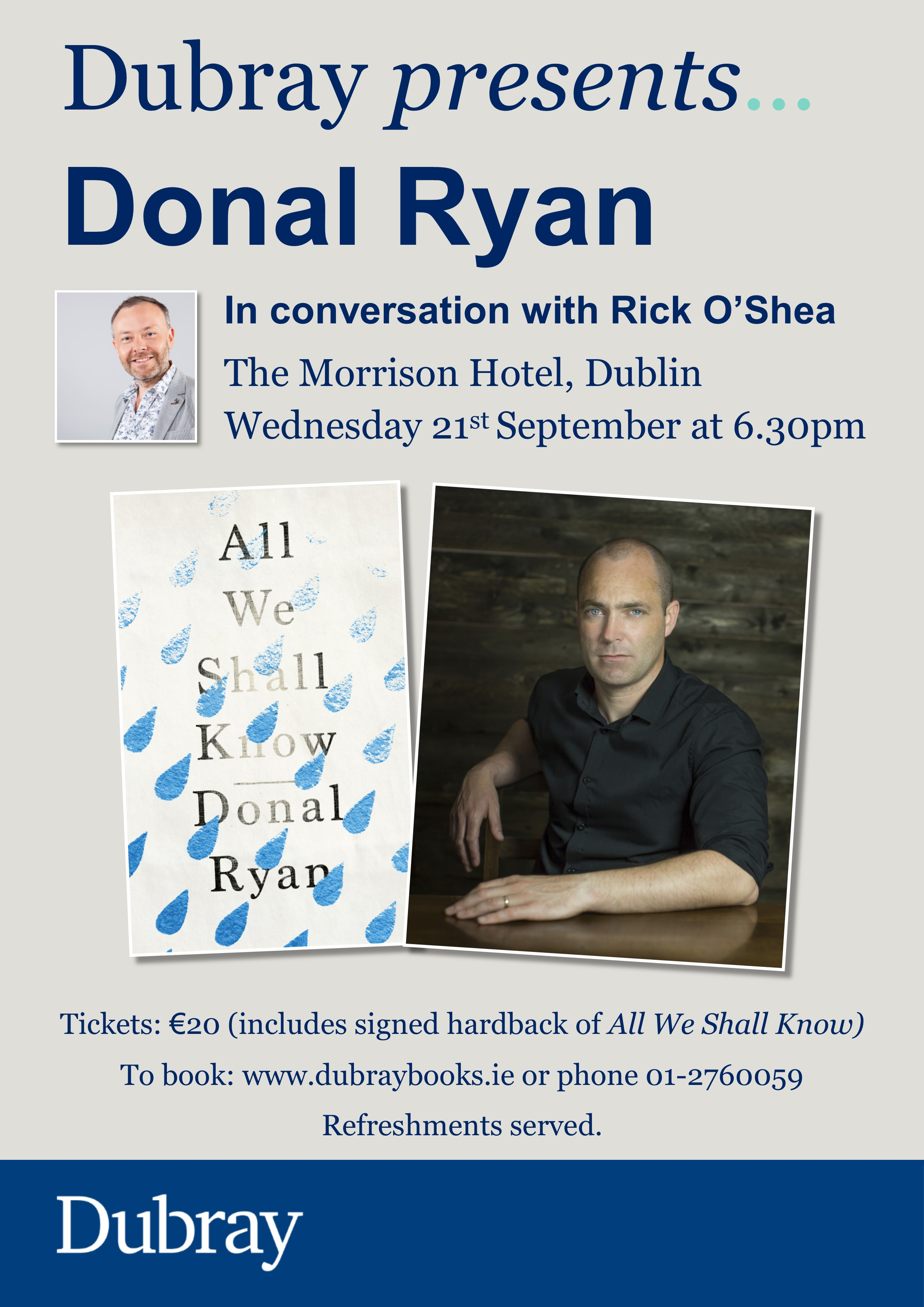Donal Ryan Event Morrison poster